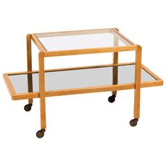 Rare Art Deco Haagse School Serving Trolley, 1930s