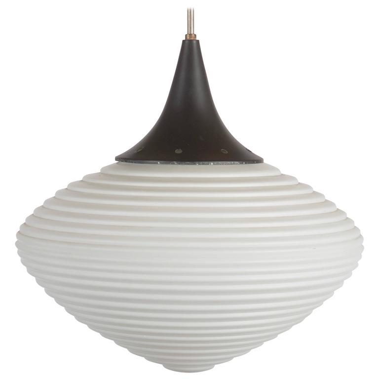 Large Opaline Glass Pendant