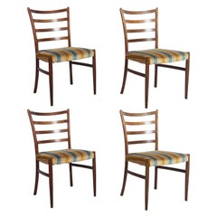 Set of Four Danish Hardwood Dining Chairs by Johannes Andersen