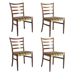 Set of Four Danish Rosewood Dining Chairs by Johannes Andersen