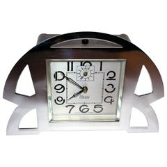 Superb 1930s Art Deco Alarm Clock by Blangy, France