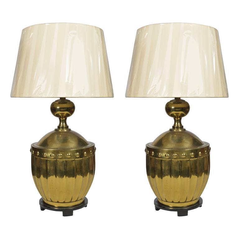 Pair Brass Stiffel Lamps, circa 1970s