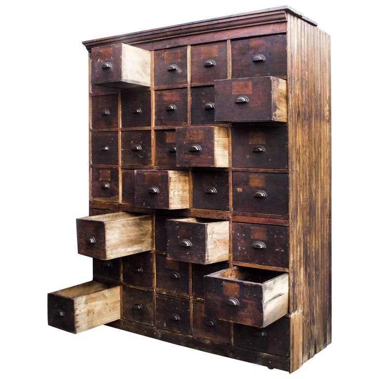 storage cabinet with drawers Large Antique Multi Drawer Storage Cabinet, circa 1890s For Sale  storage cabinet with drawers
