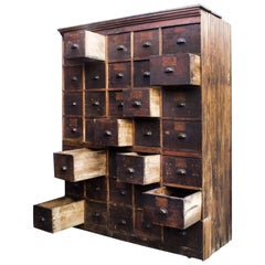 Large Antique Multi-Drawer Storage Cabinet, circa 1890s