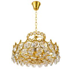 Exquisite Chandelier with Large Jeweled Crystals by Palwa