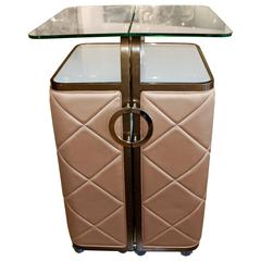 Fabulous Standing Bar Cabinet with Letter C Pulls