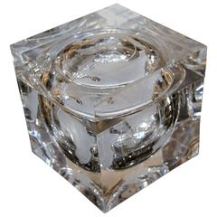 Alessandro Albrizzi Lucite Etched World Globe Ice Bucket