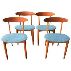 Four Dining Chairs by Kurt Ostervig, Danish Modern