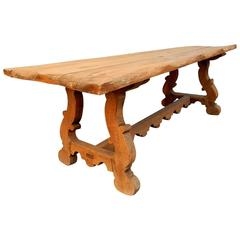 Early 1900s Primitive Antique Farm Dining Table