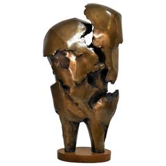 Mid-Century Modern Abstract Bronze Sculpture