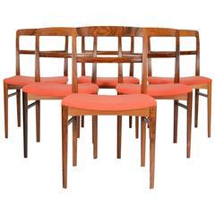 Distinctive Set of Six Rosewood Arne Vodder Dining Chair for Sibast Mobler