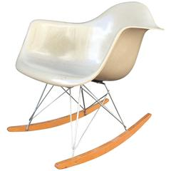 Herman Miller Eames Greige RAR Rocking Chair