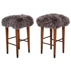 Pair of Mid-Century Modern Bar Stools Eugenio Escudero