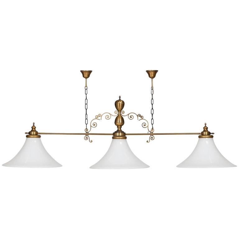 Vintage Italian Chandelier In Murano Glass For Billiard Or