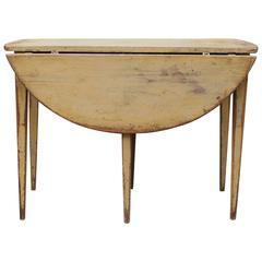 19th Century Swedish Gustavian Folding Table, Original Painting