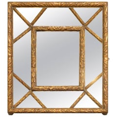 French Carved Wooden Framed Mirror