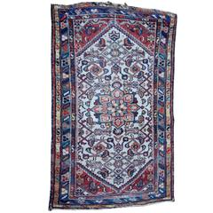 Small Semi-Antique Persian Heriz Mat