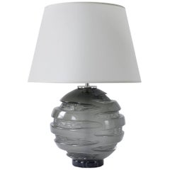 Handblown Grey Glass Gemini Table Lamp, ANDREW HUGHES