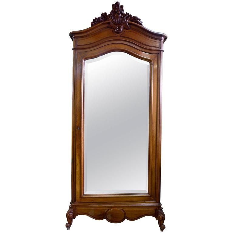 19th Century French Walnut Cabinet/Wardrobe