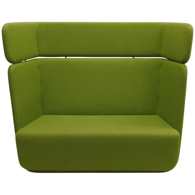 Scandinavian Mid-Century Modern Sofa / Settee / Couch with Detachable High Back