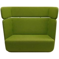 Scandinavian Mid-Century Modern Moss Green Sofa or Settee