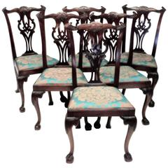 Set of Six Chippendale Style Chairs, circa 1795