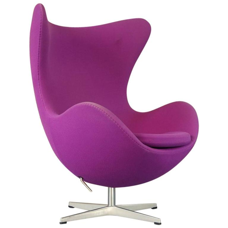 Arne Jacobsen Egg Chair For Fritz Hansen Denmark Purple