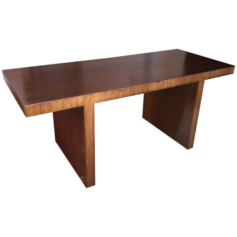 Custom T.H. Robsjohn-Gibbings Walnut Cocktail Table For Sale