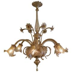 Large Venetian Murano Glass Chandelier
