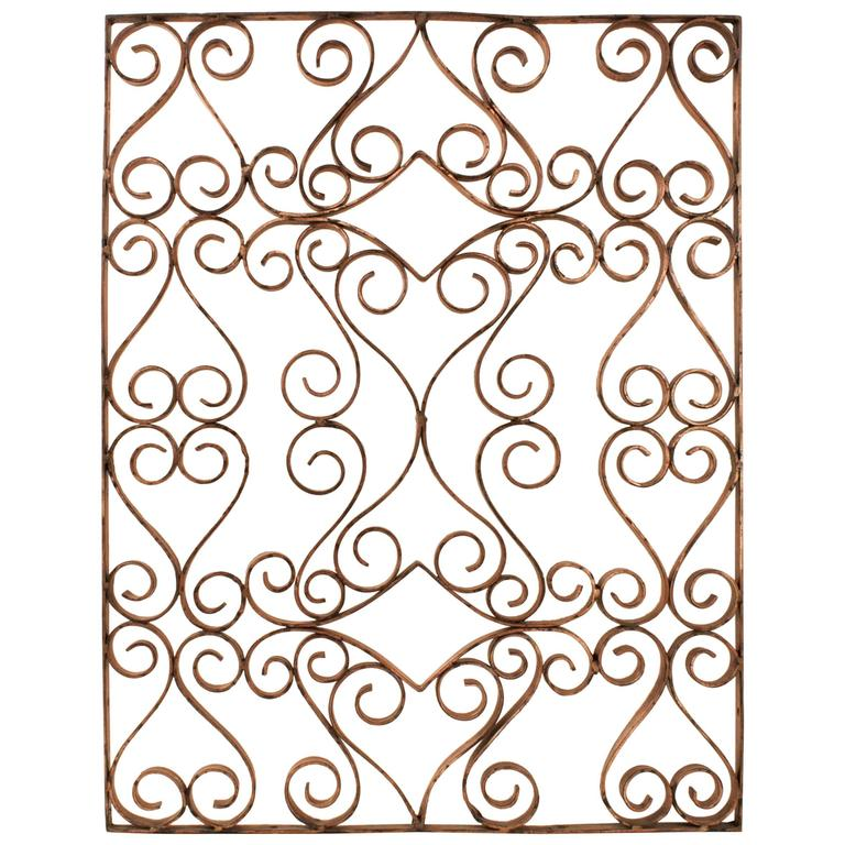 Decorative Copper Window Grate