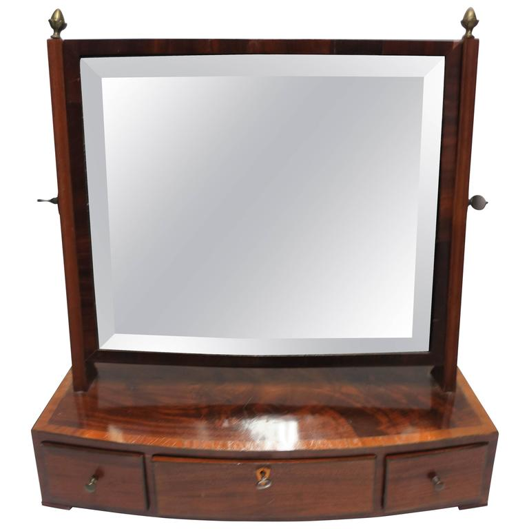 Antique Vanity Mirror with Drawers