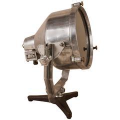 Vintage Aluminium Marine Searchlight