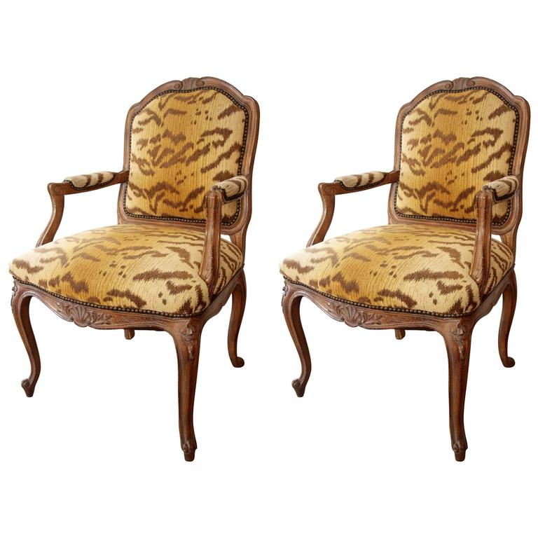 Pair of louis xv style fauteuils at 1stdibs - Fauteuil style louis xv ...