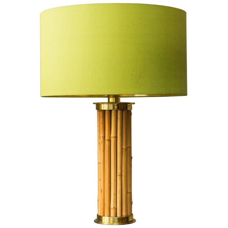 "Table Lamp ""Bamboo"" in the style of Gabriella Crespi, Italy, circa 1970"
