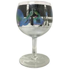 Hand-Painted Wine Glass by Vetri Della Arte 'Vedar'