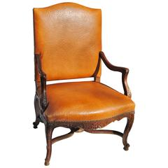 Vintage French Fauteuil Newly Upholstered in Edelman Faux Ostrichleather