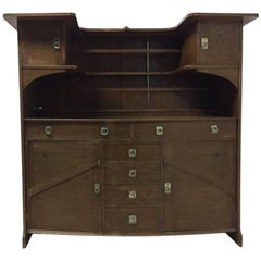 E A Taylor Wylie & Lochhead. An Exhibition Quality Glasgow School Oak Sideboard