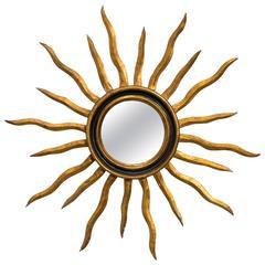 1960s Italian Sunburst Mirror