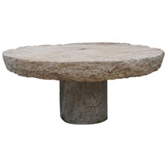 Early 19th Century Round Millstone Table from Sicily