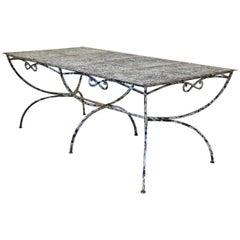 Large Maison Jansen Garden Table, France, 1950s