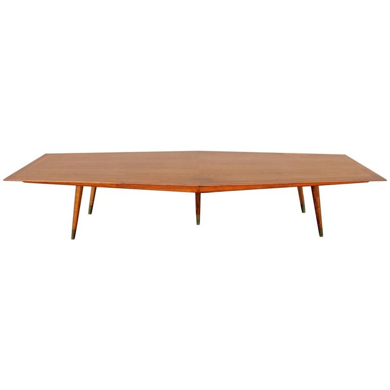 Mid century modern 12 foot conference table by stow davis for 12 foot table