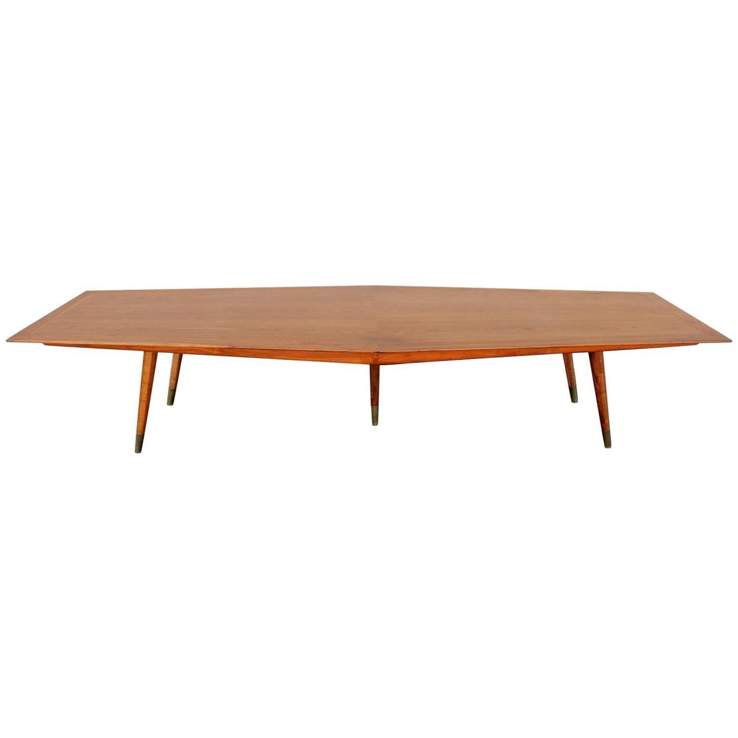 Mid Century Modern 12 Foot Conference Table by Stow Davis circa