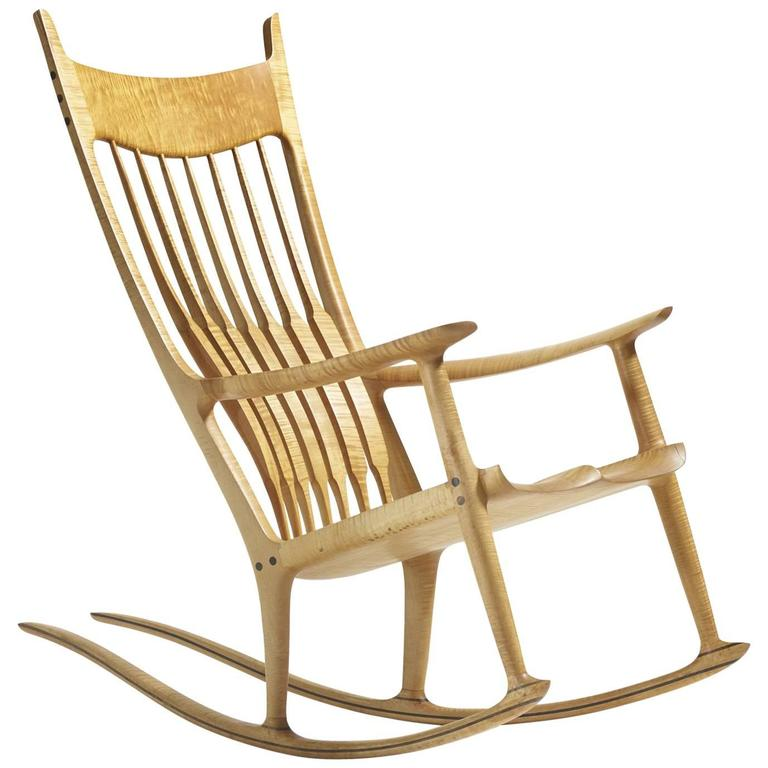 Exceptional Rocking Chair by Sam Maloof For Sale