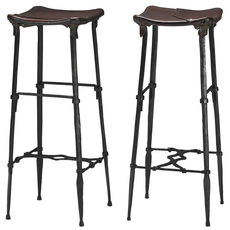 Pair Of Bar Stools By Sido And Fran 231 Ois Thevenin For