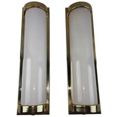 Pair of Modern Milk Glass Sconces
