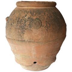 Big Terracotta Olive Oil Jar, Italian, Tuscany, 18th Century