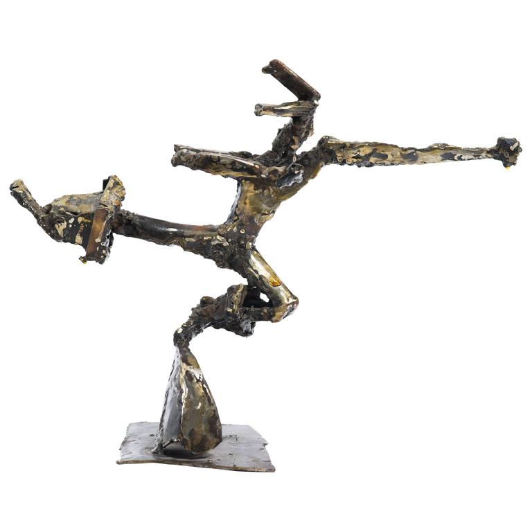 Spelter Abstract Figure Sculpture