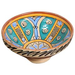 19th Century Handcrafted Moroccan Couscous Bowl