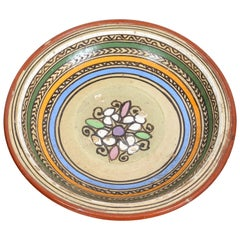 Handcrafted Antique Moroccan Pottery Bowl