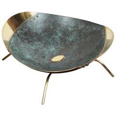 Hand-Hammered Vintage Brass Bowl